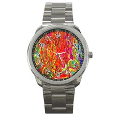 Background Texture Colorful Sport Metal Watch by Nexatart