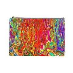 Background Texture Colorful Cosmetic Bag (large)