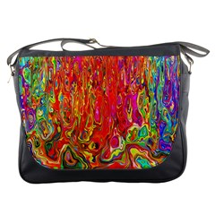Background Texture Colorful Messenger Bags by Nexatart
