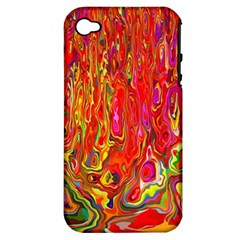 Background Texture Colorful Apple Iphone 4/4s Hardshell Case (pc+silicone) by Nexatart