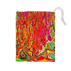 Background Texture Colorful Drawstring Pouches (large)  by Nexatart