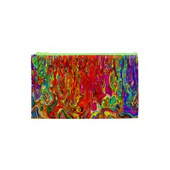 Background Texture Colorful Cosmetic Bag (xs) by Nexatart