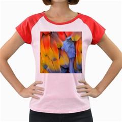 Spring Parrot Parrot Feathers Ara Women s Cap Sleeve T Shirt