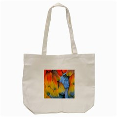 Spring Parrot Parrot Feathers Ara Tote Bag (cream) by Nexatart