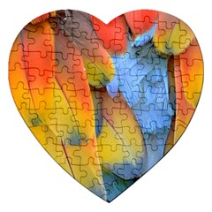 Spring Parrot Parrot Feathers Ara Jigsaw Puzzle (heart)