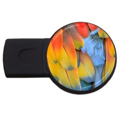 Spring Parrot Parrot Feathers Ara Usb Flash Drive Round (4 Gb)