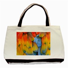 Spring Parrot Parrot Feathers Ara Basic Tote Bag by Nexatart