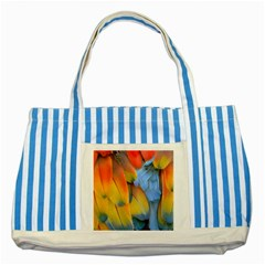 Spring Parrot Parrot Feathers Ara Striped Blue Tote Bag by Nexatart