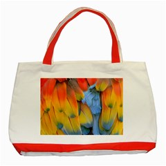 Spring Parrot Parrot Feathers Ara Classic Tote Bag (red)