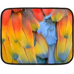 Spring Parrot Parrot Feathers Ara Double Sided Fleece Blanket (mini)  by Nexatart