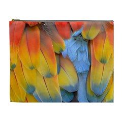 Spring Parrot Parrot Feathers Ara Cosmetic Bag (xl) by Nexatart