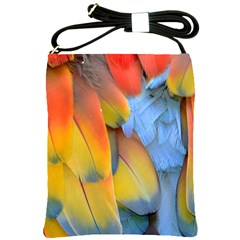 Spring Parrot Parrot Feathers Ara Shoulder Sling Bags by Nexatart