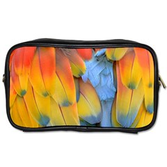 Spring Parrot Parrot Feathers Ara Toiletries Bags by Nexatart