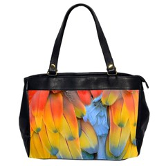Spring Parrot Parrot Feathers Ara Office Handbags (2 Sides)  by Nexatart