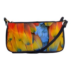 Spring Parrot Parrot Feathers Ara Shoulder Clutch Bags by Nexatart