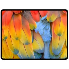 Spring Parrot Parrot Feathers Ara Fleece Blanket (large)