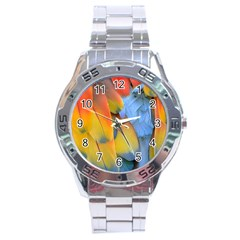 Spring Parrot Parrot Feathers Ara Stainless Steel Analogue Watch