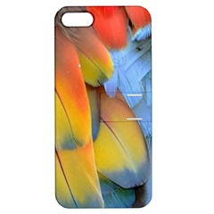 Spring Parrot Parrot Feathers Ara Apple Iphone 5 Hardshell Case With Stand by Nexatart