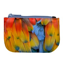 Spring Parrot Parrot Feathers Ara Large Coin Purse