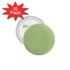 Gingham Check Plaid Fabric Pattern 1 75  Buttons (10 Pack) by Nexatart
