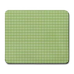 Gingham Check Plaid Fabric Pattern Large Mousepads by Nexatart