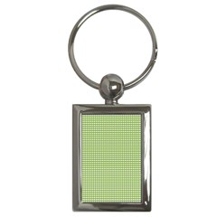 Gingham Check Plaid Fabric Pattern Key Chains (rectangle)
