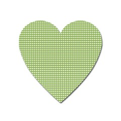 Gingham Check Plaid Fabric Pattern Heart Magnet
