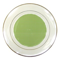 Gingham Check Plaid Fabric Pattern Porcelain Plates