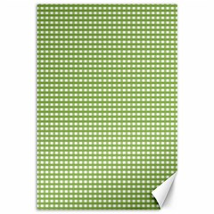 Gingham Check Plaid Fabric Pattern Canvas 12  X 18