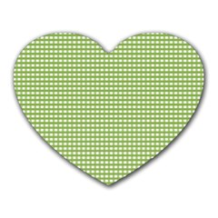 Gingham Check Plaid Fabric Pattern Heart Mousepads by Nexatart