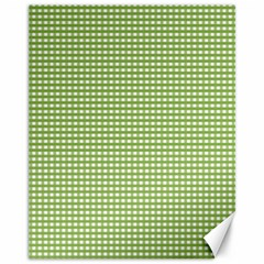 Gingham Check Plaid Fabric Pattern Canvas 11  X 14