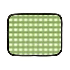 Gingham Check Plaid Fabric Pattern Netbook Case (small)  by Nexatart