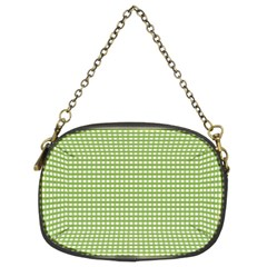 Gingham Check Plaid Fabric Pattern Chain Purses (two Sides)  by Nexatart