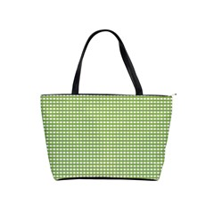 Gingham Check Plaid Fabric Pattern Shoulder Handbags by Nexatart
