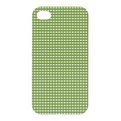 Gingham Check Plaid Fabric Pattern Apple Iphone 4/4s Premium Hardshell Case by Nexatart