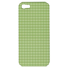 Gingham Check Plaid Fabric Pattern Apple Iphone 5 Hardshell Case