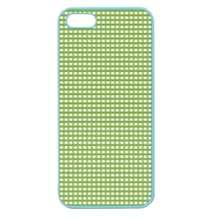 Gingham Check Plaid Fabric Pattern Apple Seamless Iphone 5 Case (color) by Nexatart