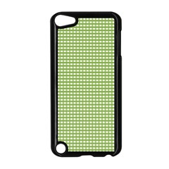 Gingham Check Plaid Fabric Pattern Apple Ipod Touch 5 Case (black) by Nexatart