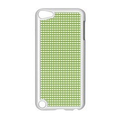 Gingham Check Plaid Fabric Pattern Apple Ipod Touch 5 Case (white) by Nexatart
