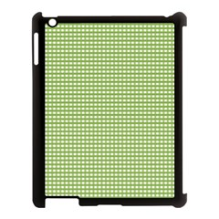 Gingham Check Plaid Fabric Pattern Apple Ipad 3/4 Case (black) by Nexatart