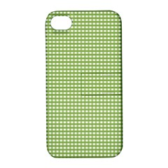 Gingham Check Plaid Fabric Pattern Apple Iphone 4/4s Hardshell Case With Stand by Nexatart