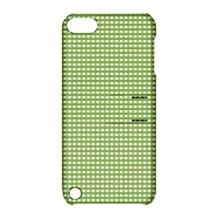 Gingham Check Plaid Fabric Pattern Apple Ipod Touch 5 Hardshell Case With Stand