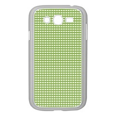 Gingham Check Plaid Fabric Pattern Samsung Galaxy Grand Duos I9082 Case (white)