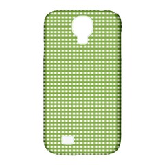 Gingham Check Plaid Fabric Pattern Samsung Galaxy S4 Classic Hardshell Case (pc+silicone)