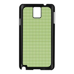 Gingham Check Plaid Fabric Pattern Samsung Galaxy Note 3 N9005 Case (black) by Nexatart