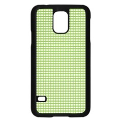 Gingham Check Plaid Fabric Pattern Samsung Galaxy S5 Case (black) by Nexatart