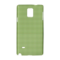 Gingham Check Plaid Fabric Pattern Samsung Galaxy Note 4 Hardshell Case