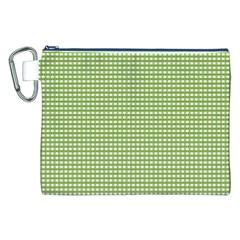 Gingham Check Plaid Fabric Pattern Canvas Cosmetic Bag (xxl) by Nexatart