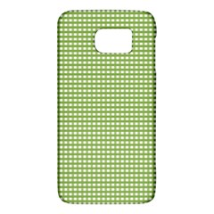 Gingham Check Plaid Fabric Pattern Galaxy S6 by Nexatart