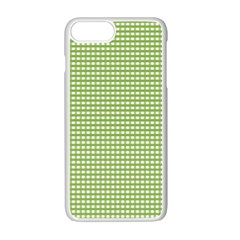 Gingham Check Plaid Fabric Pattern Apple Iphone 7 Plus White Seamless Case by Nexatart